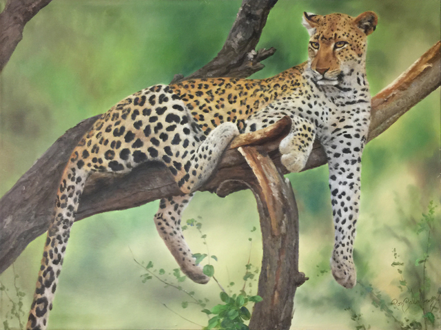 Ron Balaban, 'LEOPARD', 2000, Painting, OIL ON CANVAS, Gallery Art
