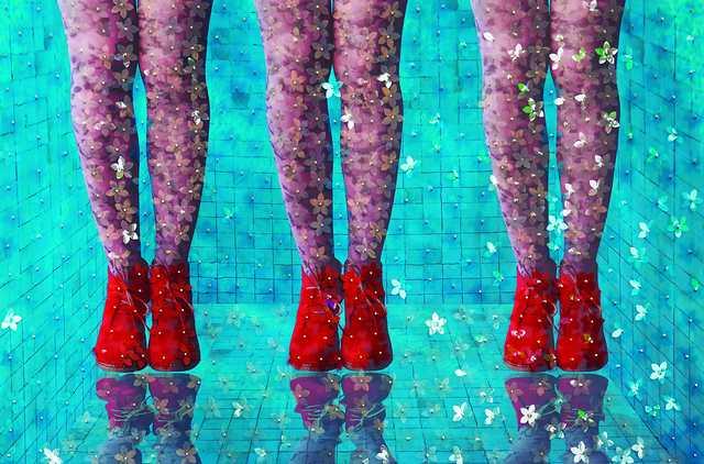 Mabel Poblet, 'Trillizas', 2015, Mixed Media, Photographic printing, PVC, acetate, nails, LaKole