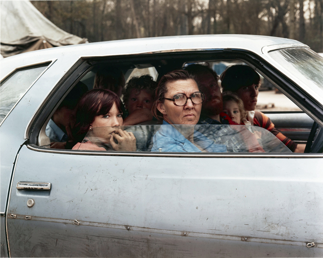 , 'Family in a Car in Tent City, Outside of Houston, Texas, January 1983,' 1983, Huxley-Parlour