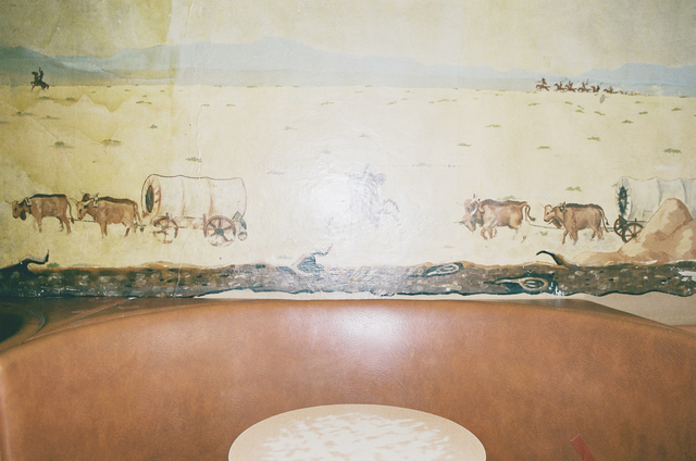 , 'Untitled (bar table and mural),' 2014, Cob