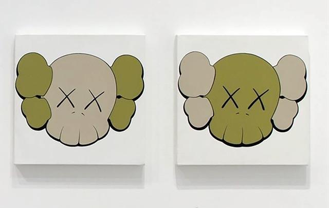 KAWS, 'Untitled (Camo Skulls - set of 2)', 2000, Emily Friedman Fine Art