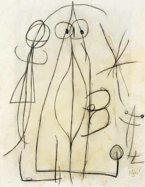 , 'Femme attrapant un oiseau attiré par le sexe béant de cette femme, à l'ombre d'une étoile,' 1976, Galerie Lelong & Co.