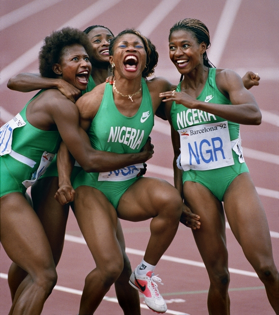 , 'Nigerian Relay Team Olympics, Barcelona ,' 1992, Brooklyn Museum