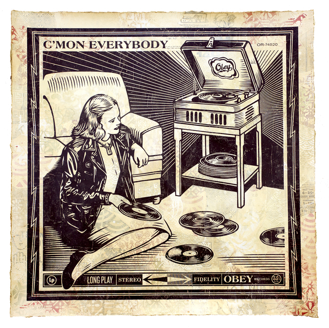 Shepard Fairey, 'C'Mon Everybody', 2012, Underdogs Gallery