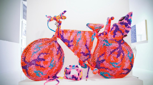 Olek, 'Crocheted Object - Bicycle', 2010, Robert Fontaine Gallery
