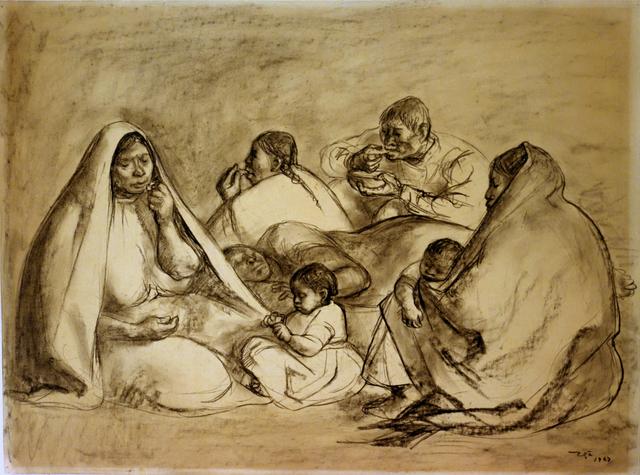 Francisco Zúñiga, 'Group With Children', 1967, Bill Hodges Gallery