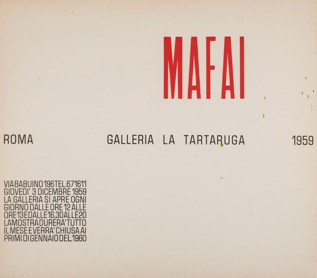 Mario Mafai, 'Solo exhibition', 1959, Finarte