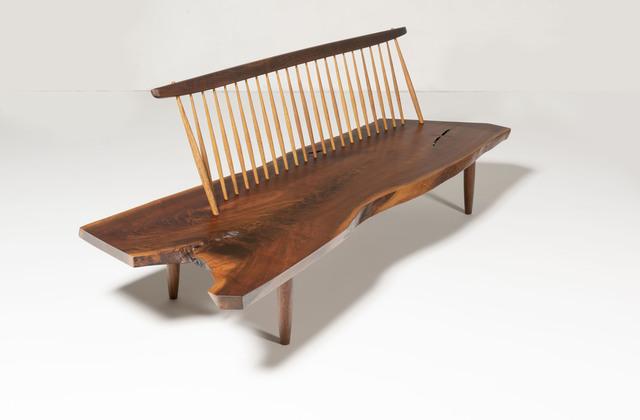 George Nakashima, 'Conoid Bench', 1974, Design/Decorative Art, American black walnut, hickory and rosewood, Gokelaere & Robinson