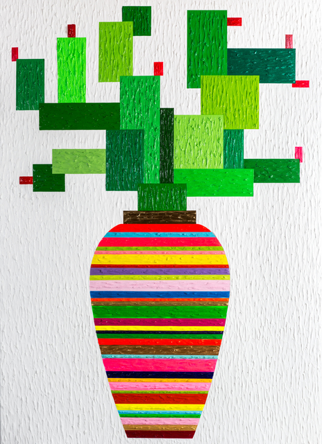 Zhenya Xia, 'Cactus ', 2015-2016, Painting, Acrylic on Canvas, HG Contemporary