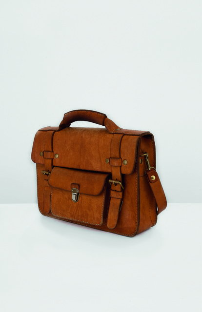 , 'Justin Vernon: Leather briefcase,' , Milan Design Week Highlights