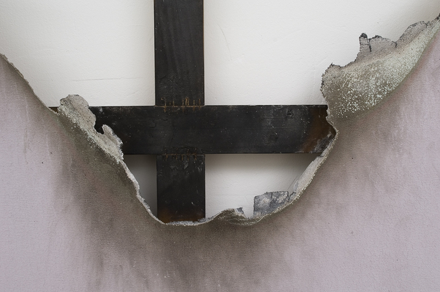 Kasper Sonne, 'Borderline (New Territory) No 55', 2014, Painting, IndustrialPaint, fire, water and fixative on canvas, aluminum frame, West Den Haag