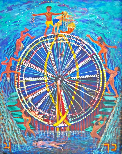 , 'THE WHEEL OF FORTUNE from the Journey of the Tarot Series,' 2009, Alpha 137 Gallery