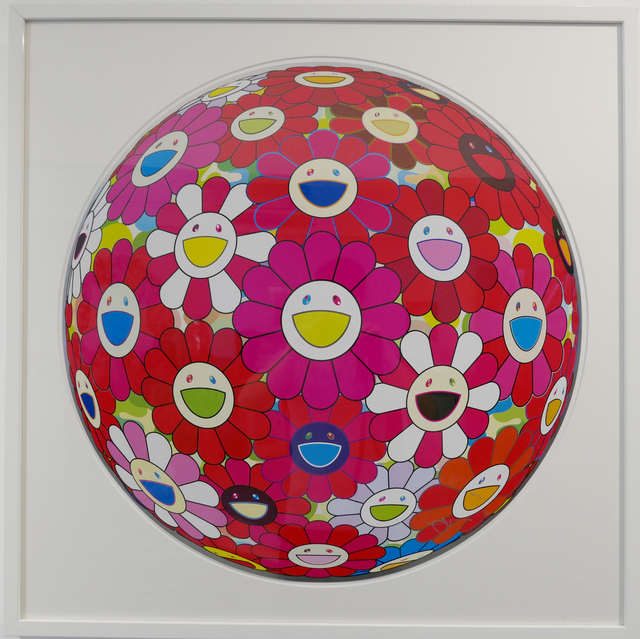 Takashi Murakami, 'Flowerball (3D) - Pink, Red', 2014, Print, Lithograph, @Whatever Artspace