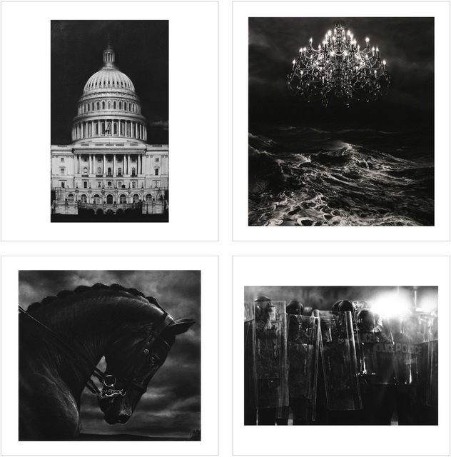, '1. Untitled (Capitol Detail) 2. Untitled (Throne Room) 3. Untitled (Bucephalus) 4. Untitled (Riot Cops),' 2017, Lougher Contemporary