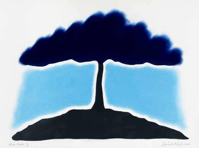 David Nash, 'Blue Shade', 2019, Print, Pastel Stencil on Arches paper 250gsm, Cristea Roberts Gallery