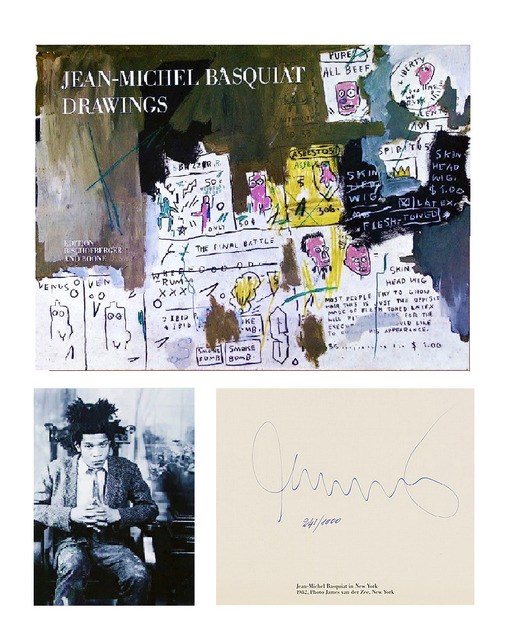 "Jean-Michel Basquiat, '""DRAWINGS,"" 1985, SIGNED Edition Bruno Bischofberger and Boone, SIGNED & Numbered 271/1000, RARE', 1985, VINCE fine arts/ephemera"
