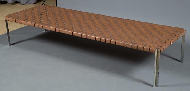 'William Katavalos for Laverne International Leather Strap Bench', Designed 1955, Doyle