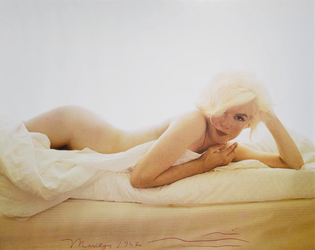 , 'Marilyn Monroe nude on a bed, from The Last Sitting for Vogue,' 1962, Holden Luntz Gallery
