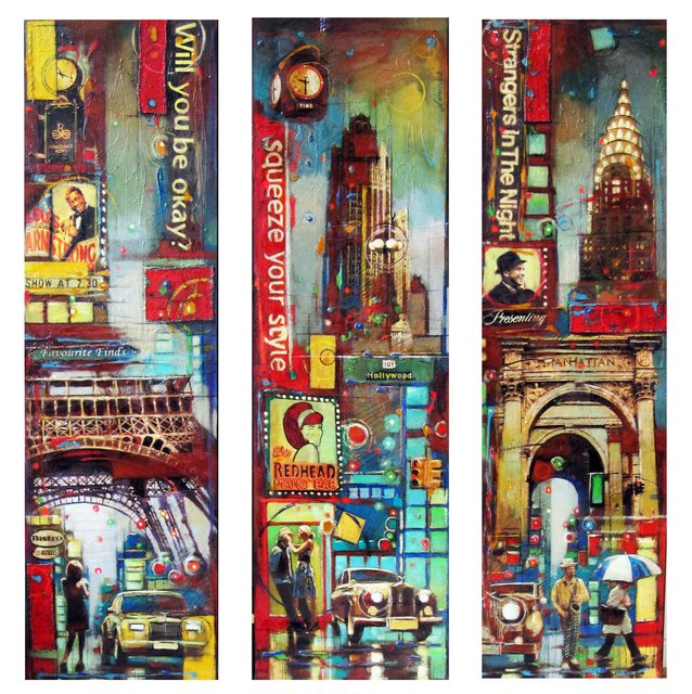, 'Paris, New York and Hollywood,' 2009, Florida Fine Art