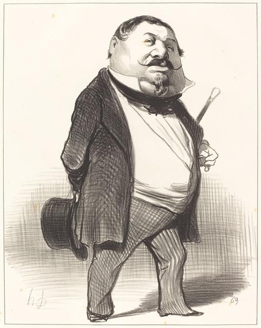 Honoré Daumier, 'Prince Lucien Murat', 1849, National Gallery of Art, Washington, D.C.