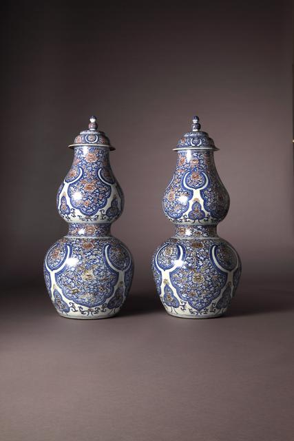 , 'Double Gourd Vases,' Kangxi period (1662-1722) ca. 1710, Vanderven Oriental Art