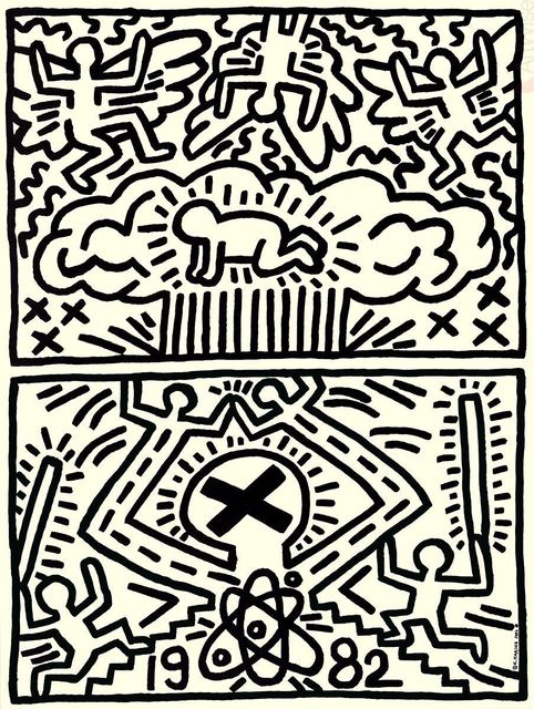 Keith Haring, 'Poster for Nuclear Disarmament', (Date unknown), Posters, Offset Lithograph, ArtWise