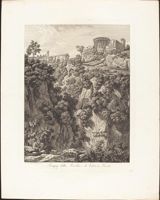 Albert Christoph Dies, 'Tempj della Sibilla e Vesta a Tivoli', 1798, National Gallery of Art, Washington, D.C.