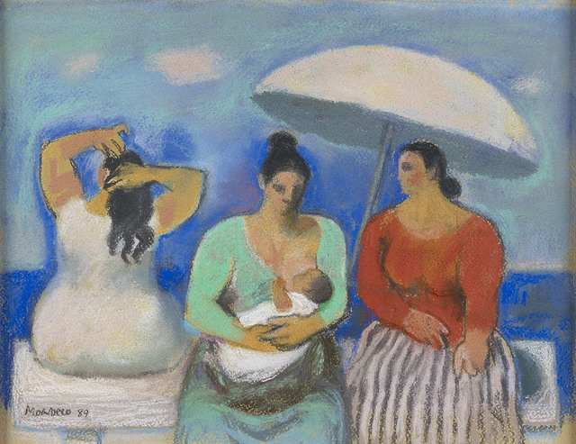 , 'Three Women by the Sea,' 1989, The Scottish Gallery