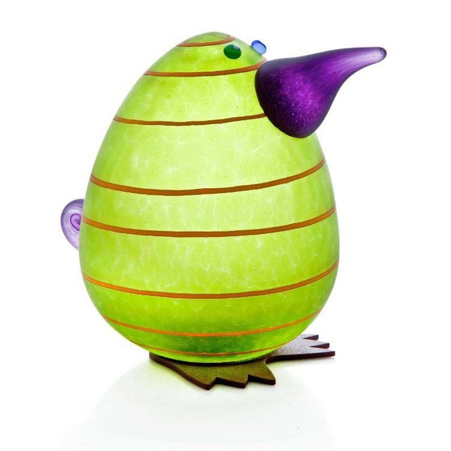Borowski Glass, 'Kiwi Egg Paperweight: 24-02-94 in Lime Green', 2018, Art Leaders Gallery