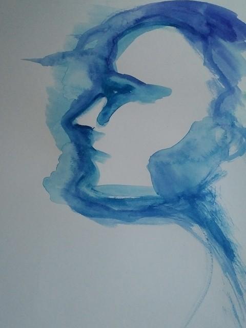 Alexandra Bregman, 'Man's Face in Blue', 2017, MvVO ART