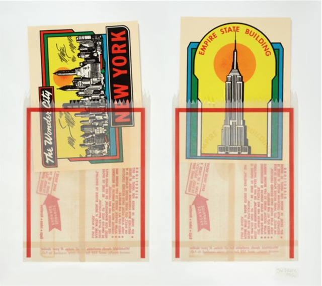 , 'New York Decals 1 & 2,' 1967, Lyndsey Ingram