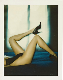 Wibecke's legs in her bedroom