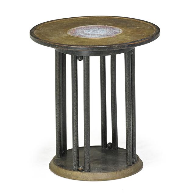 Josef Hoffmann, 'Table, Austria', ca. 1905, Design/Decorative Art, Pickled Oak, Hammered Brass, Rago/Wright