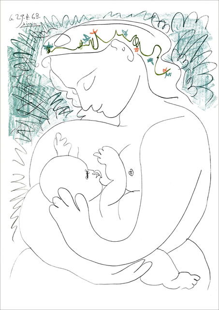 Pablo Picasso, 'Maternity, Woman and child', 1965, Plazzart