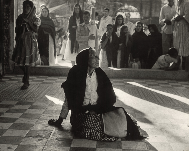 , 'Mexican peasant in adoration at a church.,' 1958, Magnum Photos