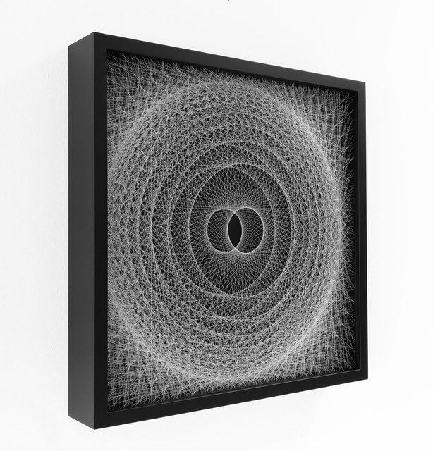 Robbert de Goede, 'Rollin' Figure', 2021, Sculpture, Unique wall sculpture made of acrylic threads in wooden box, Galerie Kellermann