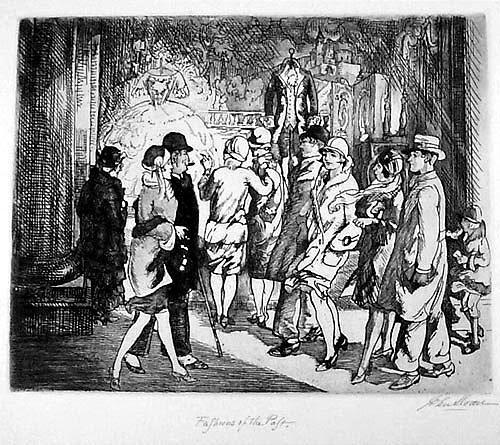 John Sloan, 'Fashions of the Past', 1926, Harris Schrank Fine Prints
