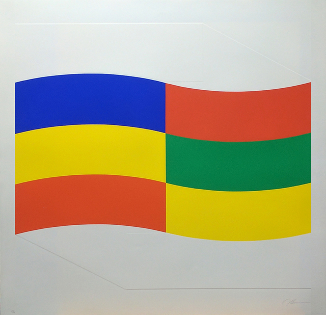 Charles Hinman, 'Blue, Green and Yellow Flag', 1970, Westwood Gallery NYC