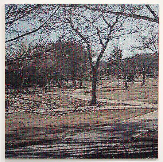 Dan Hays Criss-cross 2015 Oil on canvas 80 x 80 cm