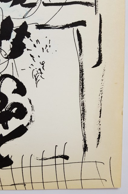 Marc Chagall, 'Black and Blue Bouquet', 1957, Print, Lithograph, Graves International Art