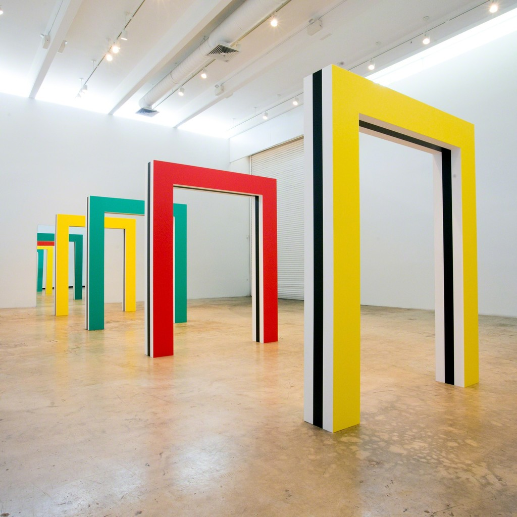 Photo-souvenir: Daniel Buren/Miami, Phase 2, 2016 Bortolami, Miami, Installation view