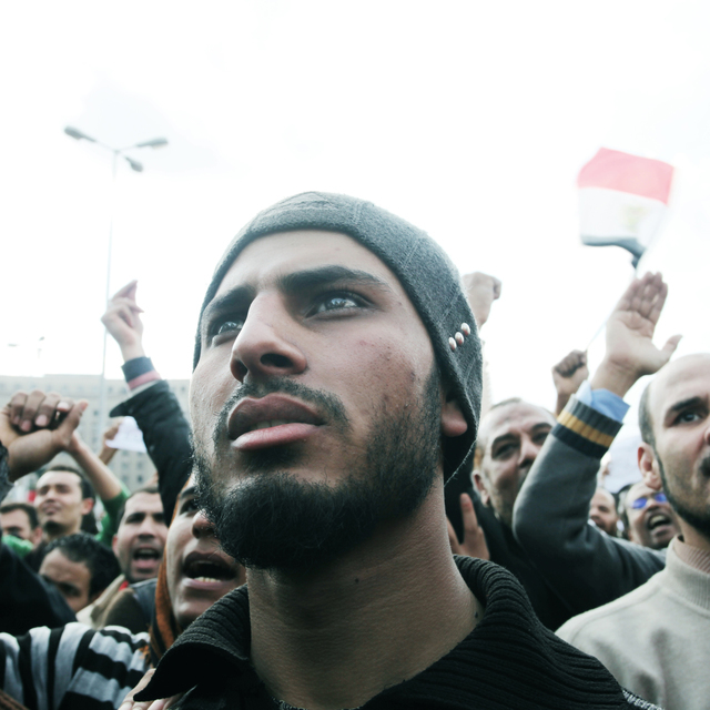 , 'Egypt's Revolution, Protesters in Tahrir Square. Cairo, Egypt,' 2011, Fort Worth Contemporary Arts