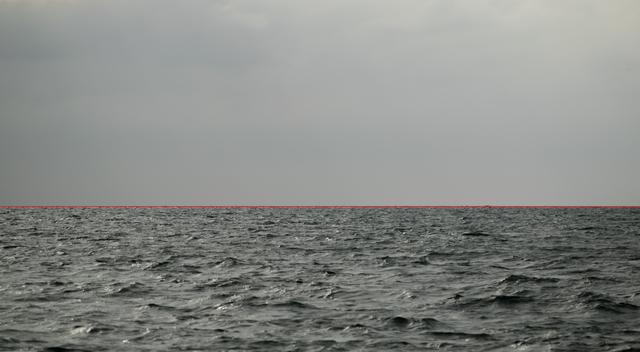 , 'The Red Line/La linea Roja,' 2018, PontArte