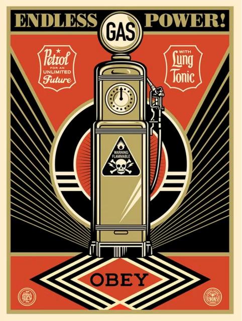Shepard Fairey, 'Endless Power', 2013, Art for ACLU Benefit Auction