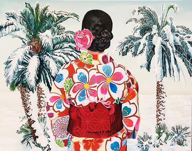 , 'Japonesa con palmeras nevadas,' 2017, Victor Lope Arte Contemporaneo
