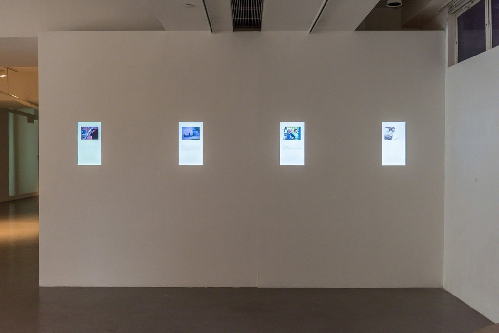 "Installation view of ""Days push off into nights"" at Spring Workshop, 2015. Photo: Kitmin Lee"