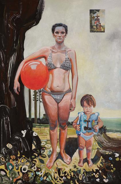 , 'Autorretrato com Theo e Negra,' 2013, AM Galeria de Arte
