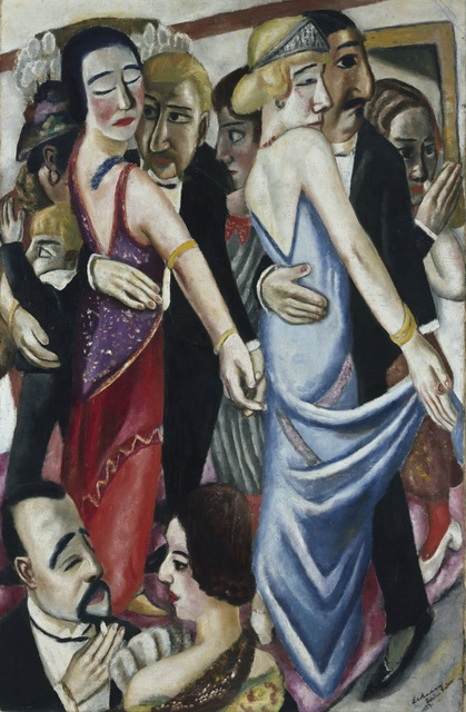max beckmann dance club in baden baden 1923 artsy. Black Bedroom Furniture Sets. Home Design Ideas
