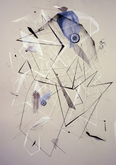 , 'Utopian Grey Victory Drawing Over Silver Transmitter Tower Disturbance,' 2009-2013, Carrie Secrist Gallery