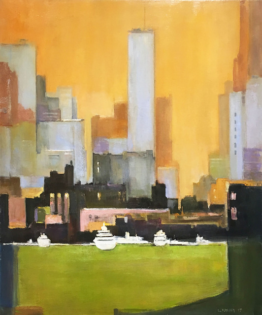 , 'Ships at Dock, New York,' 2017, Madelyn Jordon Fine Art